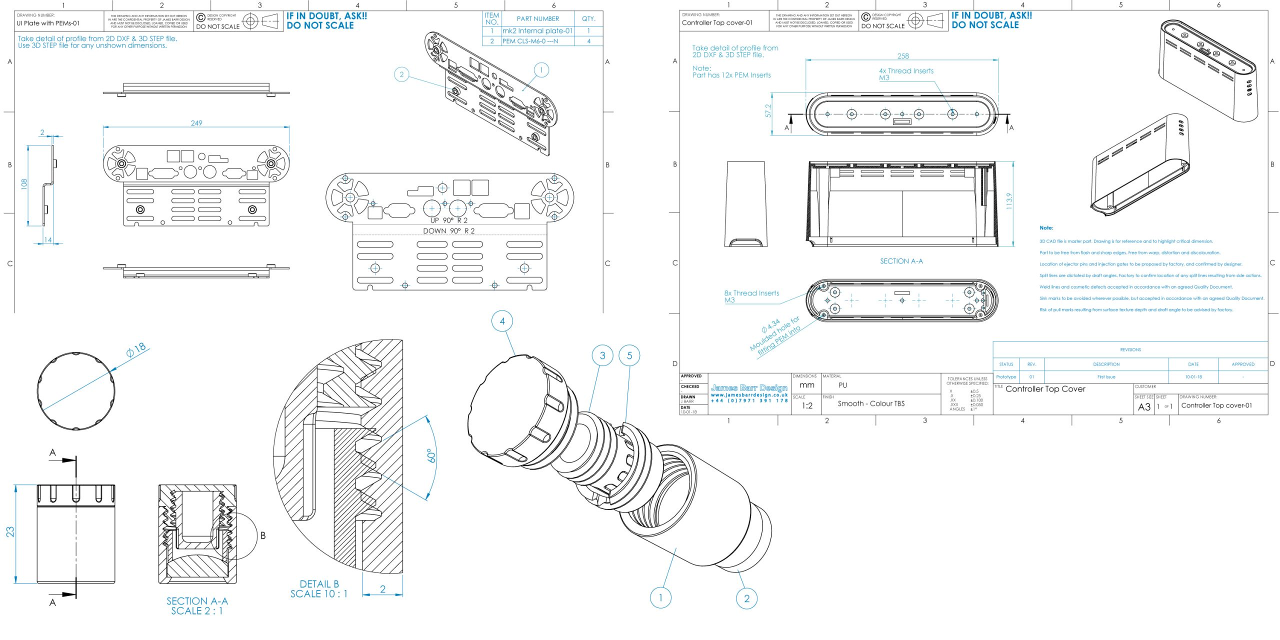 We use SolidWorks to create control drawings
